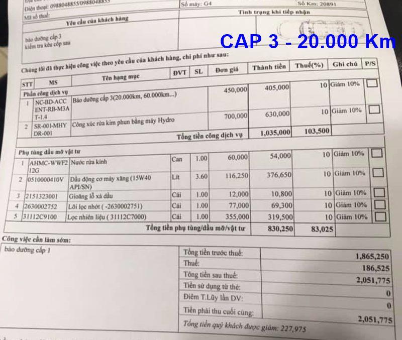 Chi phí bảo dưỡng định kỳ xe Hyundai Accent theo các mốc KM - Ảnh 7