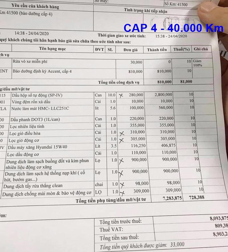 Chi phí bảo dưỡng định kỳ xe Hyundai Accent theo các mốc KM - Ảnh 9