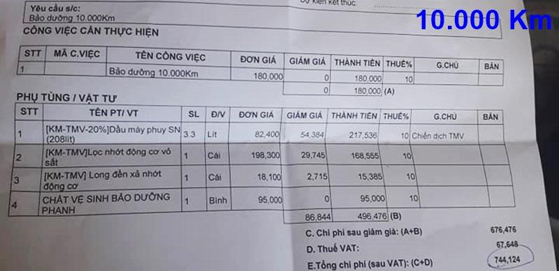 Chi phí bảo dưỡng định kỳ xe Toyota Vios theo các mốc KM - Ảnh 6