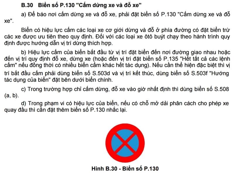 Ý nghĩa các loại biển báo dừng đỗ xe P130, P131abc - Ảnh 3