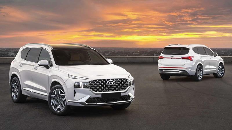 Hyundai SantaFe 2021 nâng cấp thiết kế mới