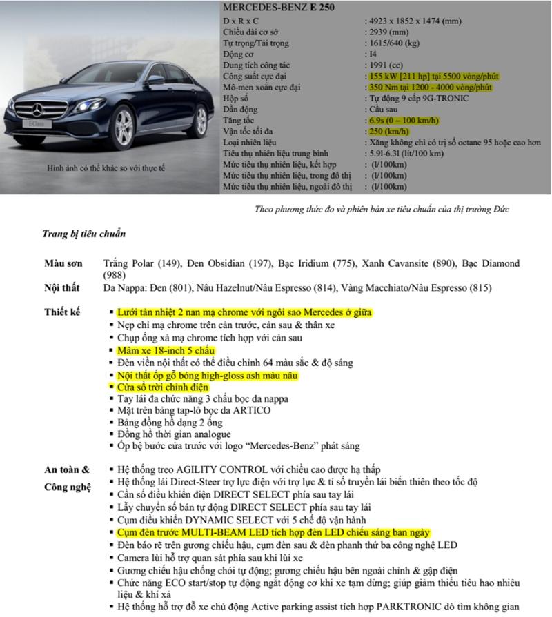 Chi tiết xe Mercedes E-Class 2018 đang bán tại Việt Nam - Ảnh 10