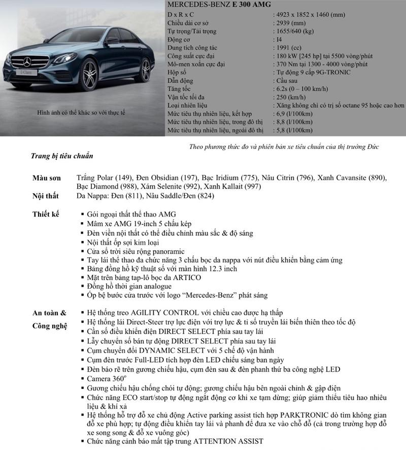 Chi tiết xe Mercedes E-Class 2018 đang bán tại Việt Nam - Ảnh 14