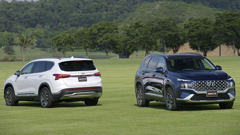 So sánh xe Hyundai SantaFe 2021 với CR-V, CX-8, Sorento, Outlander - Ảnh 1