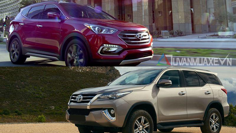 So sánh toyota fortuner và Hyundai SantaFe - Hình 2