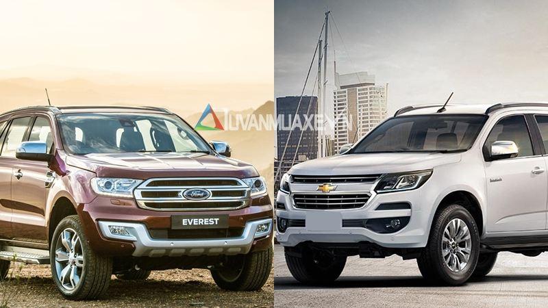 So sánh xe Ford Everest và Chevrolet Trailblazer 2018 - Ảnh 1