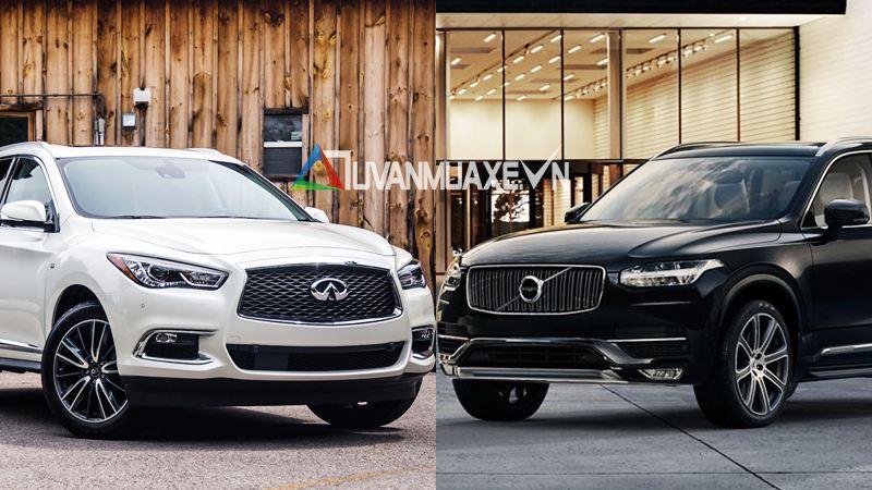 So sánh xe Infiniti QX60 và Volvo XC90 2018 tại Việt Nam - Ảnh 1