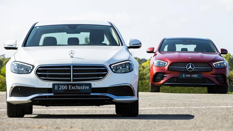 So sánh khác biệt Mercedes E 200 Exclusive 2021 và E 300 AMG 2021 - Ảnh 1