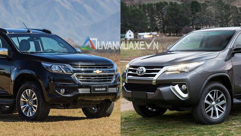 So sánh xe Toyota Fortuner và Chevrolet Trailblazer 2018 - Ảnh 1