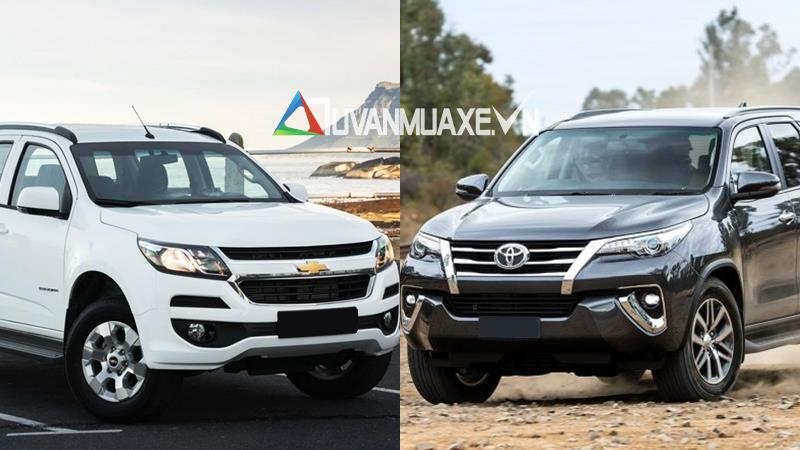 So sánh Toyota Fortuner va Chevrolet Trailblazer