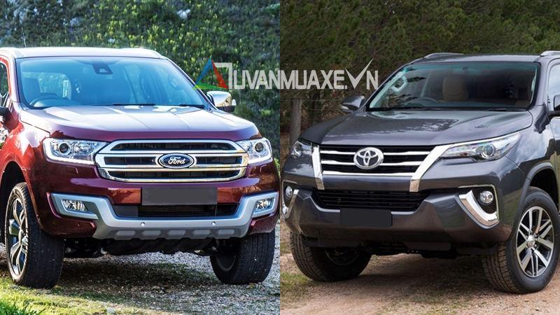 So sánh xe Ford Everest và Toyota Fortuner 2017 - Ảnh 1