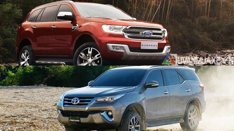 So sánh xe Ford Everest và Toyota Fortuner 2017 - Ảnh 16