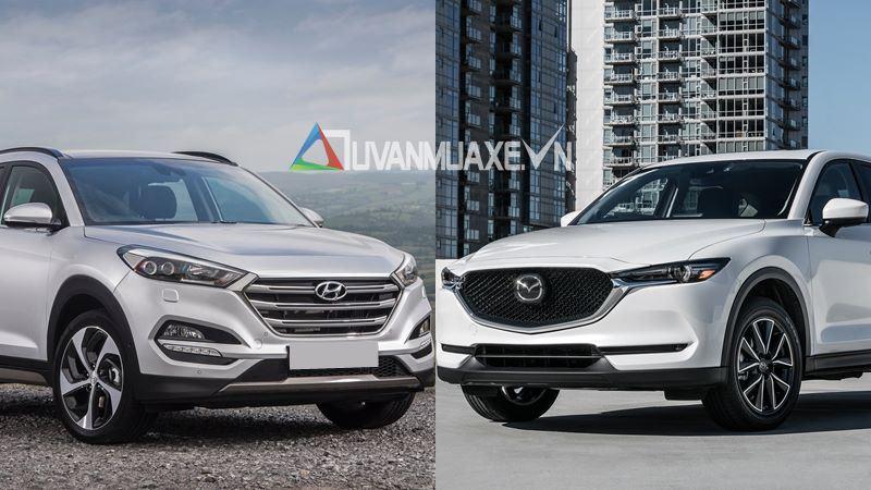 So sánh xe Hyundai Tucson 2018 và Mazda CX-5 2018 bản cao cấp - Ảnh 1