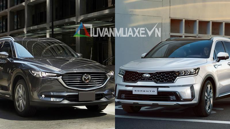 So sánh xe Mazda CX-8 và KIA Sorento 2021 - Ảnh 1