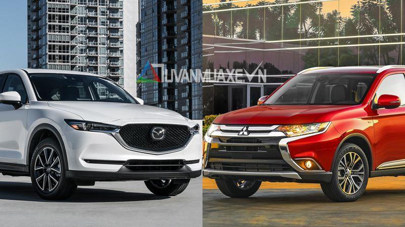 So sánh xe Mitsubishi Outlander và Mazda CX-5 2018 - Ảnh 1