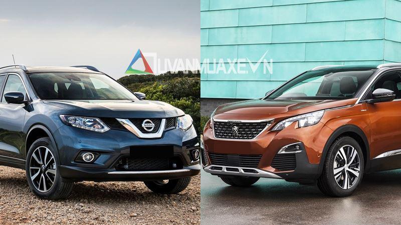 So sánh xe Nissan X-Trail 2018 và Peugeot 3008 2018 - Ảnh 1
