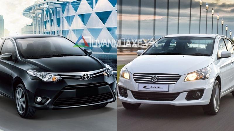 So sánh xe Toyota Vios và Suzuki Ciaz 2016-2017 - Ảnh 1
