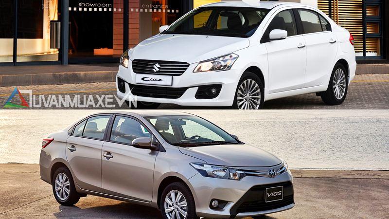 So sánh xe Toyota Vios và Suzuki Ciaz 2016-2017 - Ảnh 6