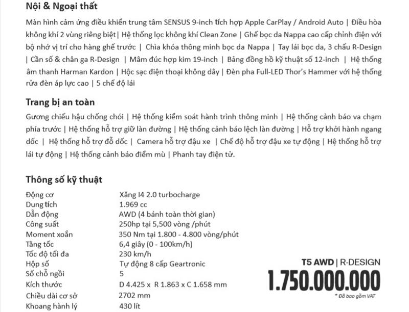 Thông số kỹ thuật và trang bị xe Volvo XC40 2019 tại Việt Nam - Ảnh 6