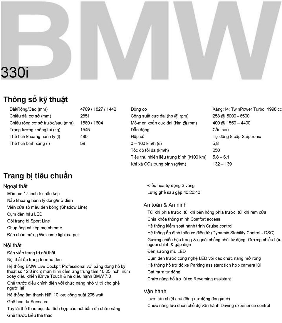 Chi tiết thông số và trang bị xe BMW 3-Series 2020 tại Việt Nam - Ảnh 10