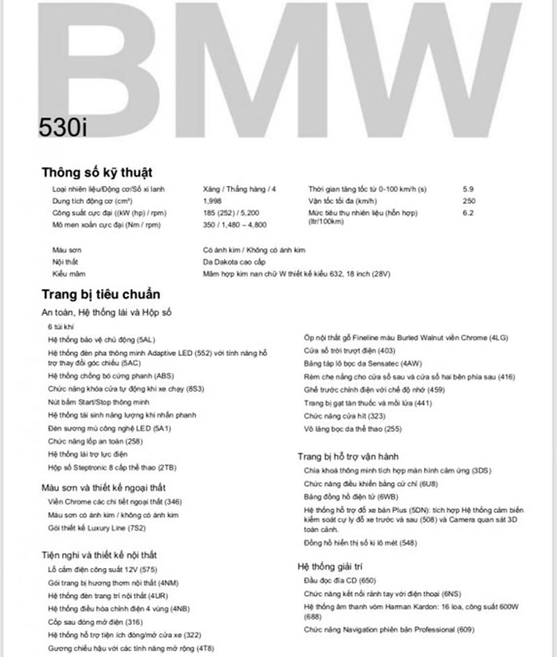 Chi tiết xe BMW 530i 2019 tại Việt Nam - Ảnh 7