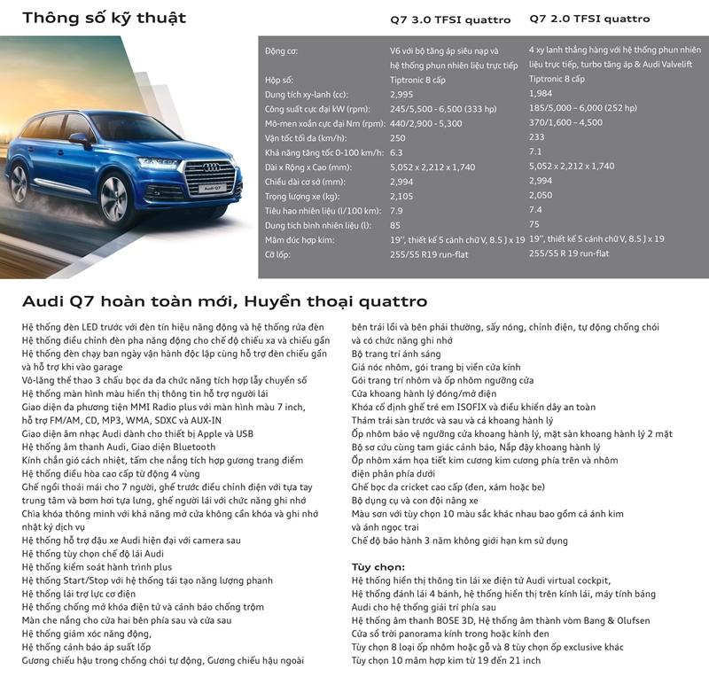 Chi tiết xe Audi Q7 2018 đang bán tại Việt Nam - Ảnh 14