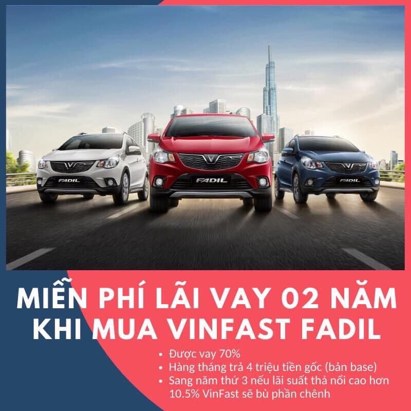 Ưu đãi vay mua xe VinFast Fadil miễn phí lãi suất 2 năm đầu - Ảnh 2